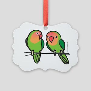 lovebirds Picture Ornament