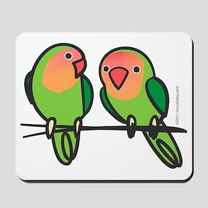 lovebirds Mousepad