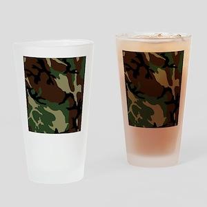 camo_6x6 Drinking Glass