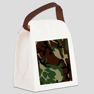 camo_6x6 Canvas Lunch Bag