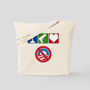 anti obama 2012(blk) Tote Bag