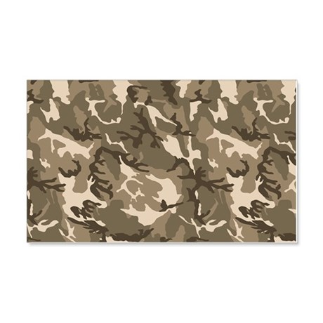 camo-tan_18x12-5 20x12 Wall Decal & Camo Wall Decals - CafePress