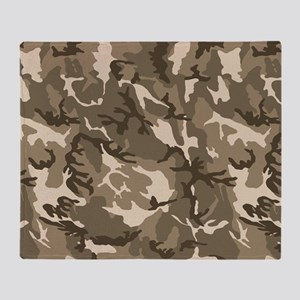 camo-tan_18x12-5 Throw Blanket