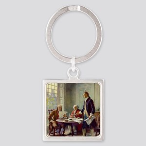 Signing_of_Declaration_of_Independ Square Keychain