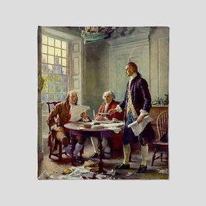 Signing_of_Declaration_of_Independen Throw Blanket