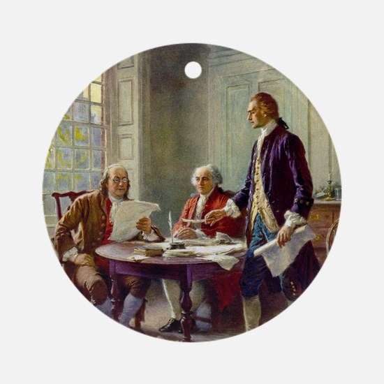 Signing_of_Declaration_of_Independe Round Ornament