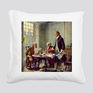Signing_of_Declaration_of_Ind Square Canvas Pillow