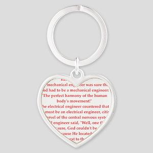 45 Heart Keychain