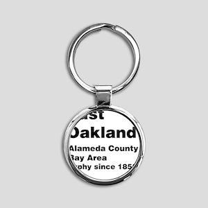 East Oakland Round Keychain