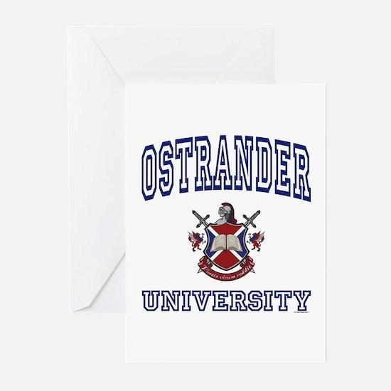 OSTRANDER University Greeting Cards (Pk of 10)