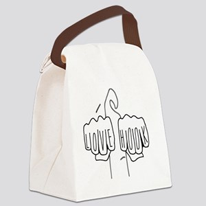 Love Hook Onesie Canvas Lunch Bag