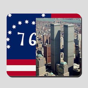 WTC-Complex-Atop-Bennington-Flag-14b14 Mousepad
