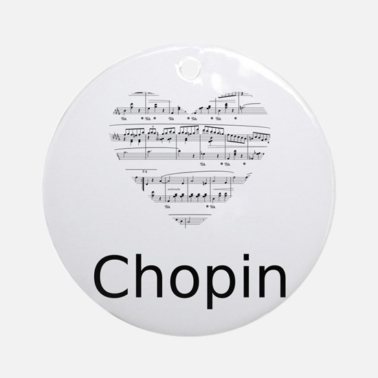 Chopin pillow Round Ornament