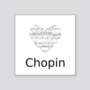 "Chopin pillow Square Sticker 3"" x 3"""