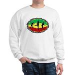 one love disc golf rasta sweatshirt