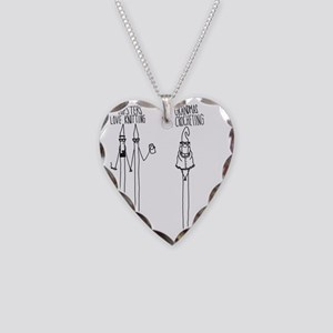 Hipsters Tote Necklace Heart Charm