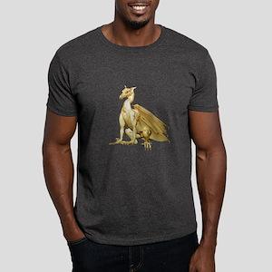 Gold Sitting Dragon Dark T-Shirt