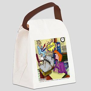 3971_office_cartoon Canvas Lunch Bag