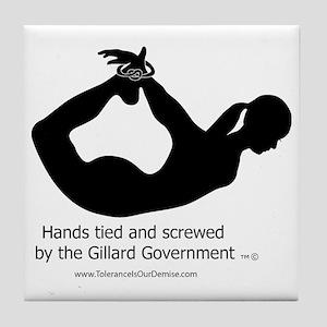 Screwed by-Gillard Govt-Female Tile Coaster