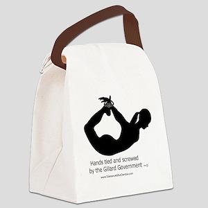 Screwed by-Gillard Govt-Female Canvas Lunch Bag