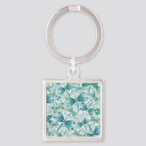 dragonflies2 Square Keychain