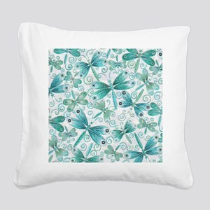 dragonflies2 Square Canvas Pillow