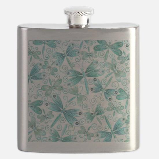 dragonflies2 Flask