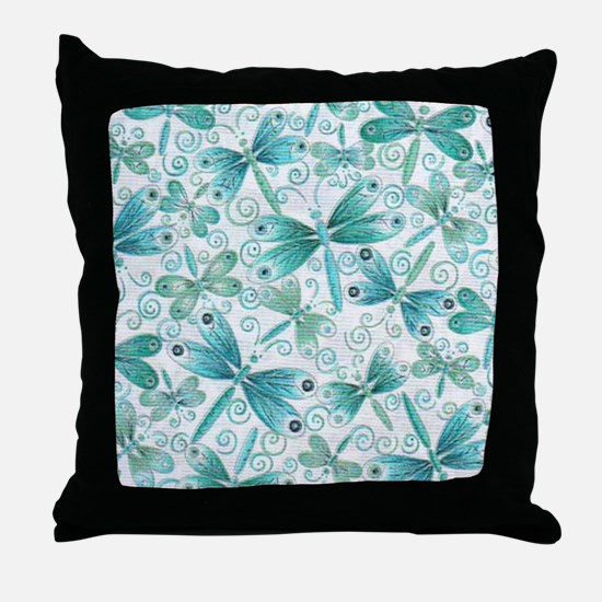 dragonflies2 Throw Pillow