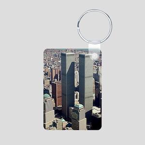 WTC-Complex-lge poster-8b5 Aluminum Photo Keychain
