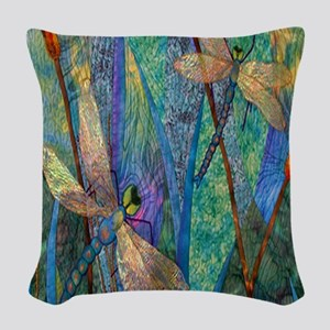 DRAGONFLIES Woven Throw Pillow