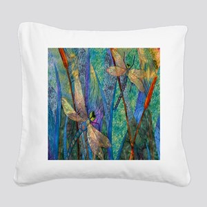 DRAGONFLIES Square Canvas Pillow