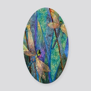DRAGONFLIES Oval Car Magnet