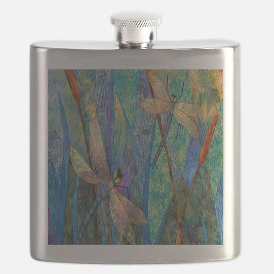 DRAGONFLIES Flask