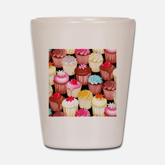 yumming cupcakes Shot Glass