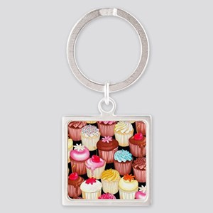 yumming cupcakes Square Keychain