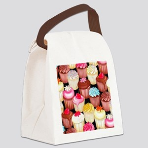 yumming cupcakes Canvas Lunch Bag
