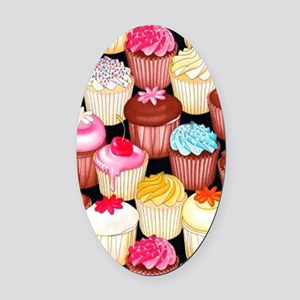 yumming cupcakes Oval Car Magnet
