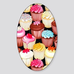yumming cupcakes Sticker (Oval)