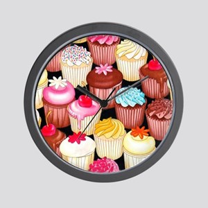 yumming cupcakes Wall Clock