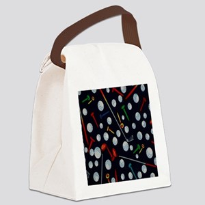 Golf Tees ipad Canvas Lunch Bag