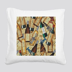 wine Square Canvas Pillow