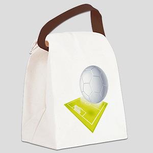 SportFieldSoccer Canvas Lunch Bag