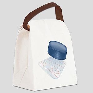 SportFieldHockey Canvas Lunch Bag
