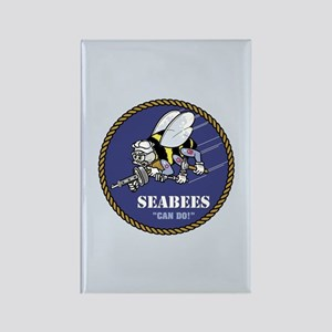 U.S. Navy Seabees Rectangle Magnet