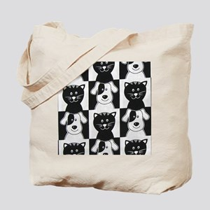 Smiley Pets Cats  Dogs ipad Tote Bag