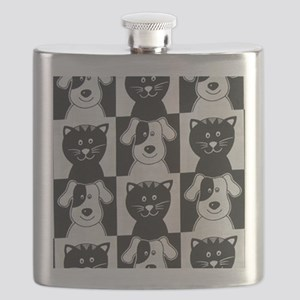 Smiley Pets Cats  Dogs ipad Flask