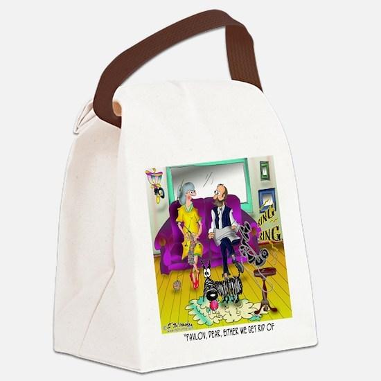 1548_dog_cartoon Canvas Lunch Bag