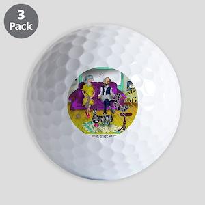 1548_dog_cartoon Golf Balls