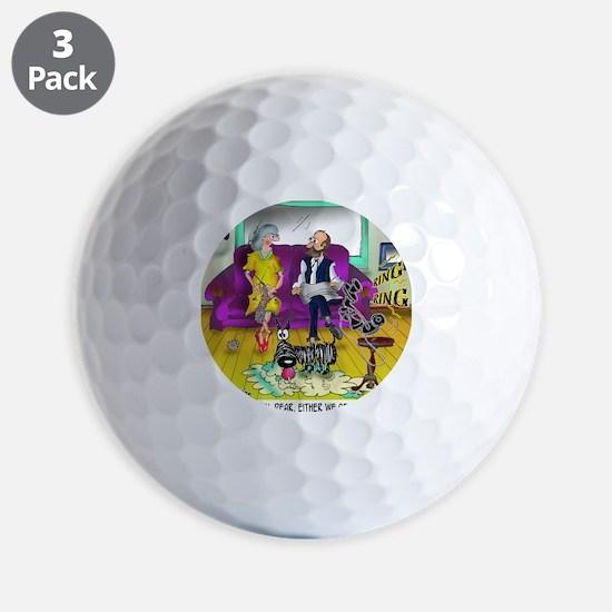 1548_dog_cartoon Golf Ball