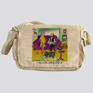 1548_dog_cartoon Messenger Bag